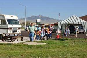 Vacation Bible Camp kids at Cody, Wyoming