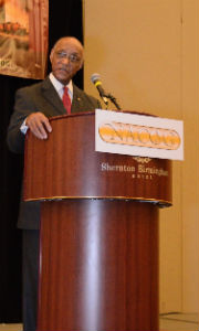 Photo: James Earl Massey speaks at the Mid-Year Leadership Conference 2014.