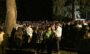 Photo: Multitudes gather for prayer at a park on the evening of October 1, 2015. Photo by Jon Nutter