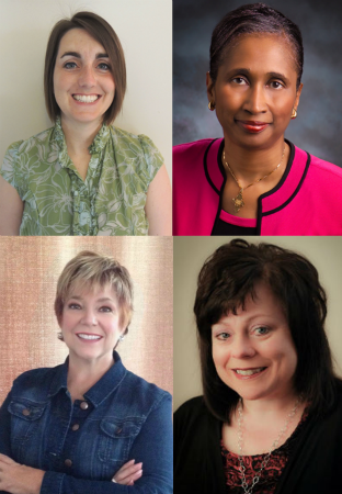 Photo: Four of our outstanding women pastors, (clockwise from upper-left) Shannon New-Spangler, Cheryl Sanders, Melissa Pratt, and Donna Rothenberger.